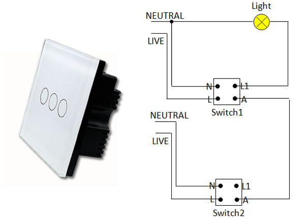 Difference between traditional two-way switch and new electrical ...