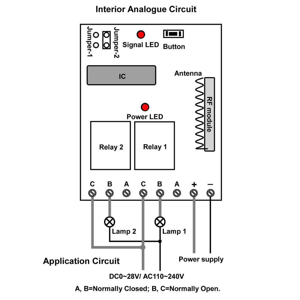 control mode for wireless rf system  momentary  toggle